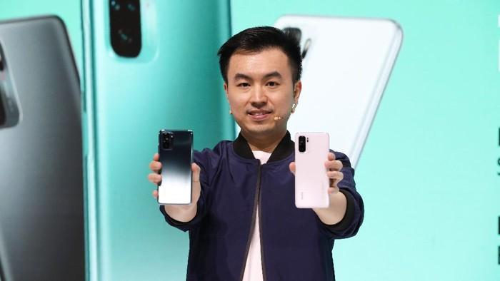 Alvin Tse, Country Director Xiaomi Indonesia, saat peluncuran Xiaomi Redmi Note 10 dan Redmi Note 10 Pro.