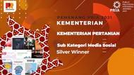 Kementan Dapat Penghargaan Silver Winner Kategori Media Sosial