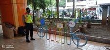 Parkir sepeda di Stasiun Mangga Besar