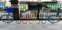 Parkir sepeda di Stasiun Sawah Besar