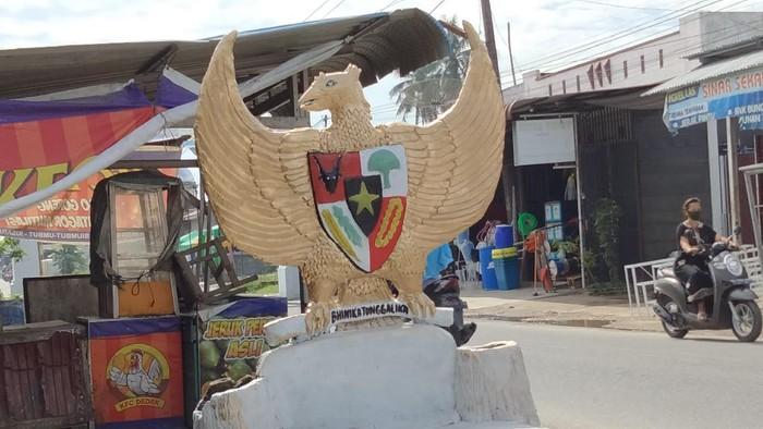 Patung Burung Garuda usai dicat ulang (Perdana-detikcom)