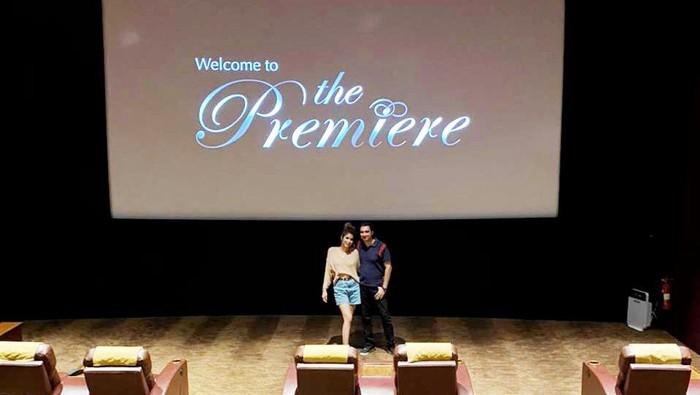 Rayakan Hari Film Nasiona, Rocky Soraya dan Melissa Ginting booking satu studio bioskop di Bali