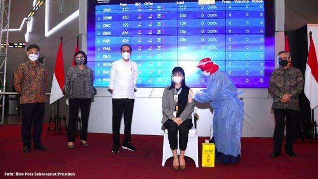 Vaksinasi di Bursa Efek Indonesia (BEI), Rabu 30 Maret 2021/Dok BEI