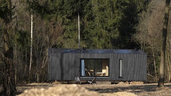 Kabin ini juga memiliki banyak jendela besar yang menampilkan indahnya alam disekitar.
