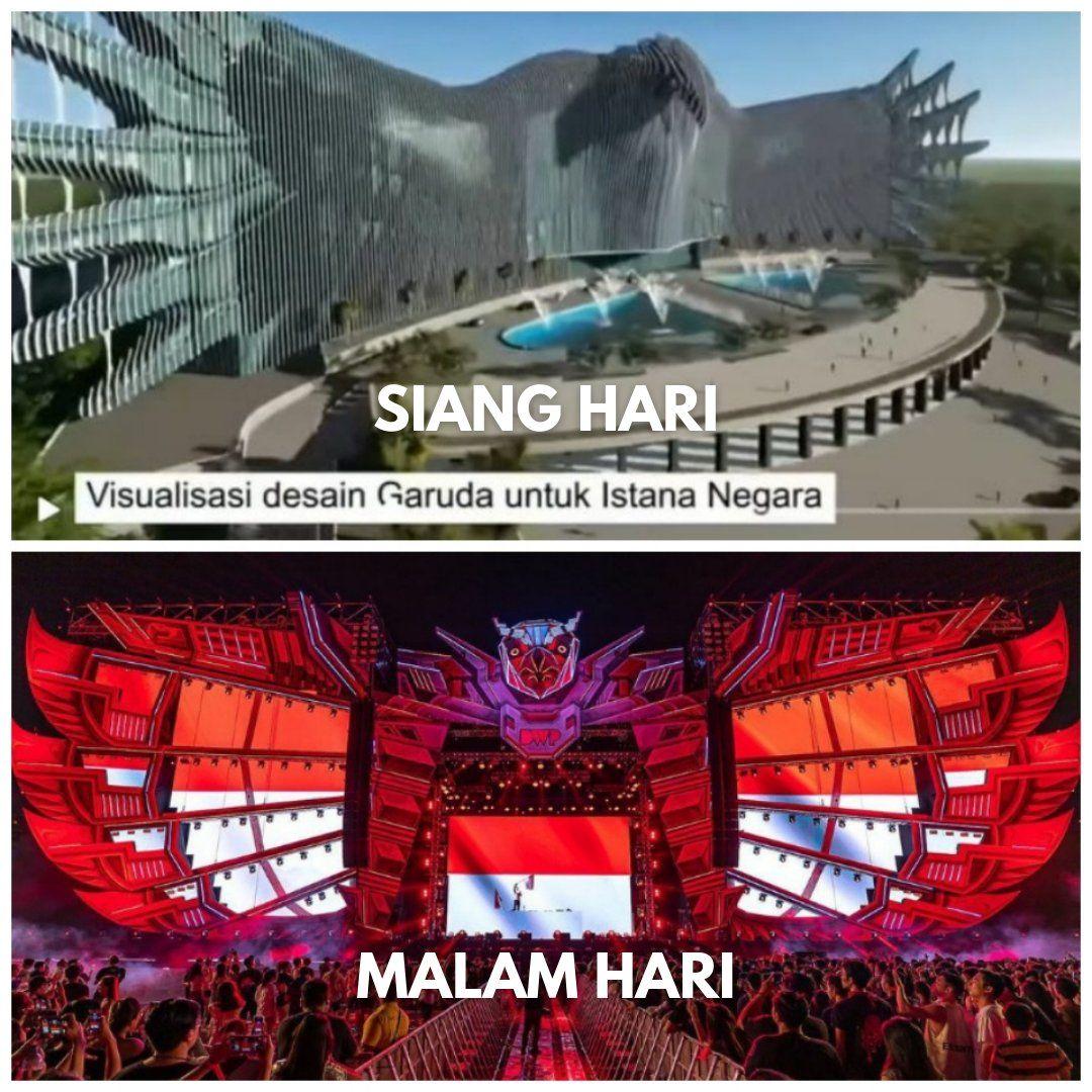 Desain Istana Negara mirip Panggung DWP