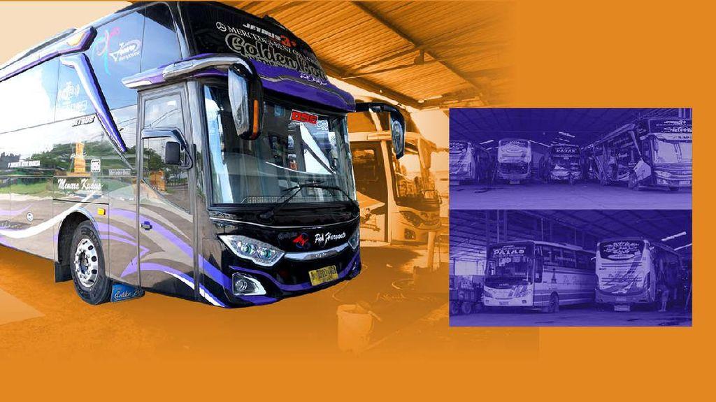 80% Bus PO Haryanto Pakai Sasis Mercedes-Benz, Apa Alasannya?