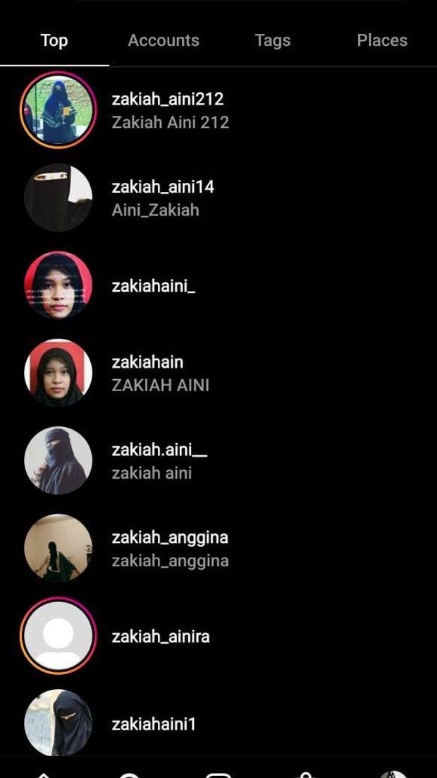 Instagram Zakiah Aini