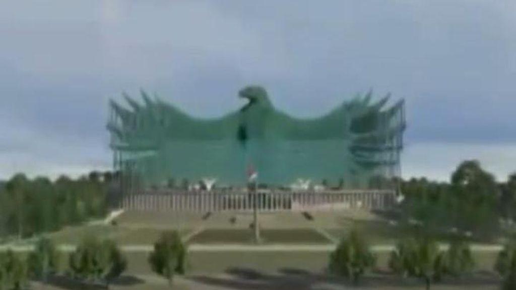Garuda Istana Negara Ibu Kota Baru Tuai Kritik, Jokowi: Pradesain!