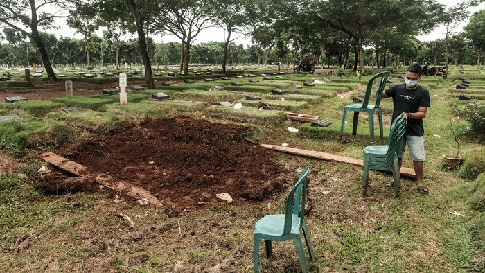 Makam Zakiah Aini penyerang Mabes Polri (Foto: Andhika Prasetia/detikcom)