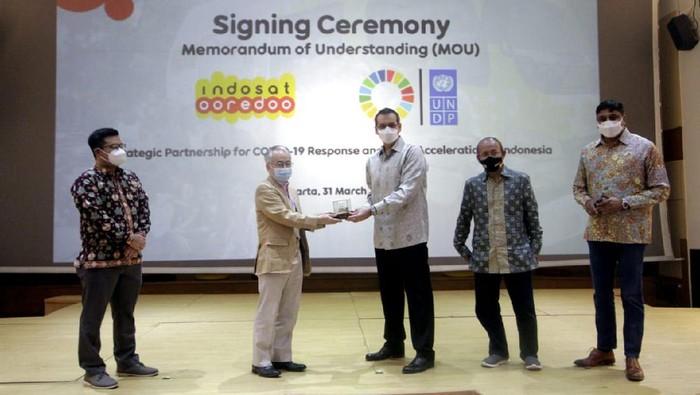 United Nations Development Programme (UNDP) bekerjasama dengan Indosat Ooredoo. Kerja sama ini untuk penanggulangan pandemi dan percepatan pembangunan nerkelanjutan (SDGs).