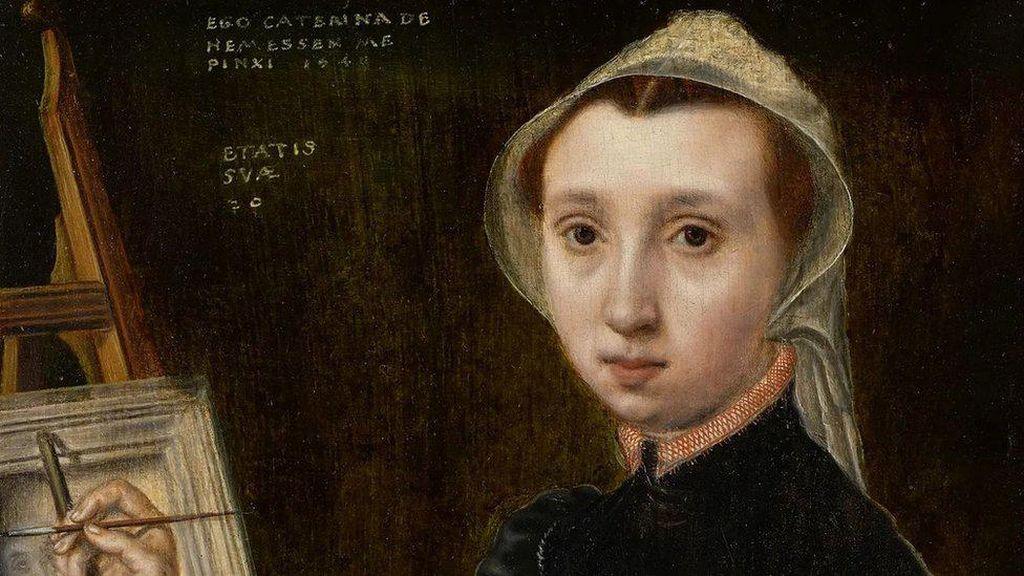 Pesan Misterius dalam Lukisan Potret Diri Pelukis Caterina van Hemessen
