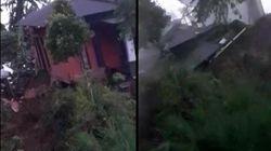 Detik-Detik Rumah di Cianjur Ambruk Akibat Pergerakan Tanah-Longsor