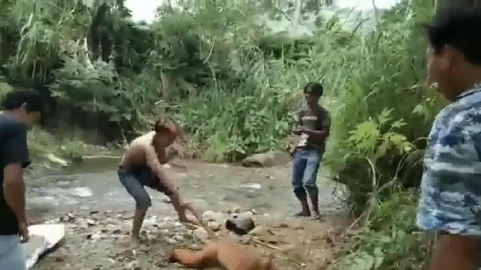 Video viral 4 pria siksa simpai di Sumatera Barat (dok. Istimewa)
