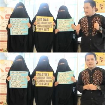 Aksi 'Peluk Saya' di Kendari, Sulawesi Tenggara bikin haru.