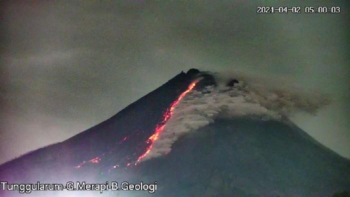 Erupsi Gunung Merapi 2/4/2021, pukul 05.00 WIB