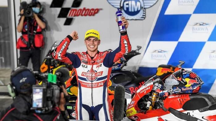 Fabio Di Giannantonio meraih podium ketiga di seri balapan Qatar di kelas Moto2. (Foto: dok.Istimewa)