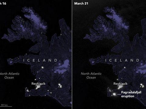 NASA potret erupsi gunung berapi Fagradalsfjall dari angkasa