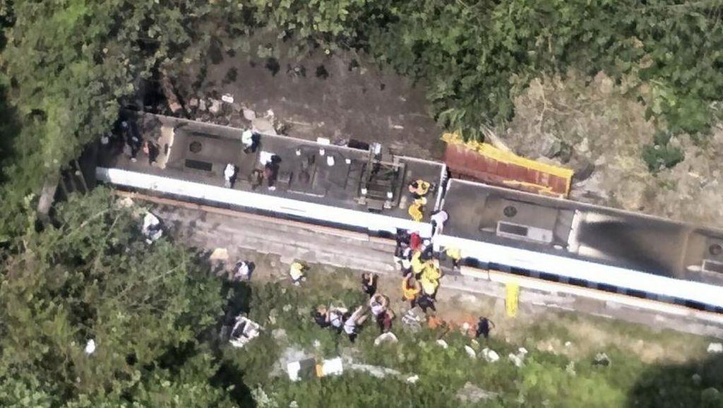 Korban Tewas Kecelakaan Kereta di Taiwan Jadi 36 Orang, 72 Terluka