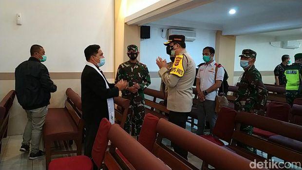 Pengamanan Gereja di Ciamis