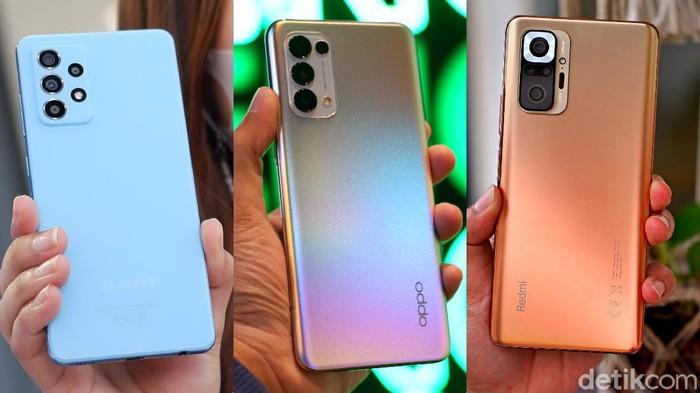 Perbandingan Galaxy A52, Reno5 dan Redmi Note 10 Pro