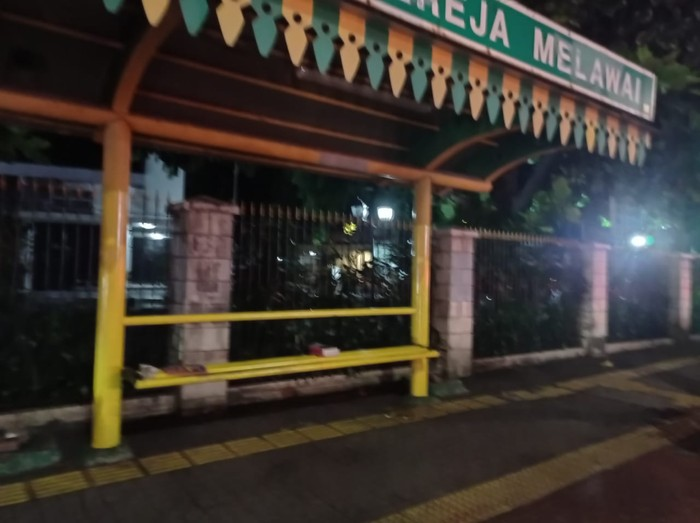 Suasana di lokasi benda mencurigakan di Jakarta Selatan (Sachril-detikcom)