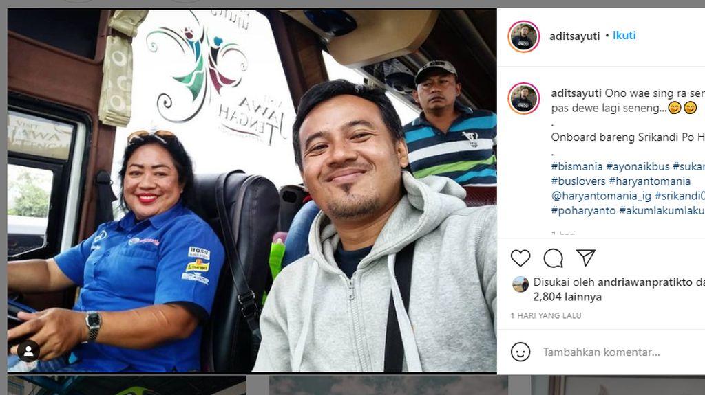 Kenalan Sama Bu Yayuk: Satu-satunya Driver Wanita di Bus PO Haryanto