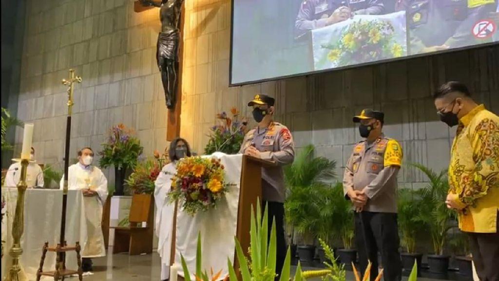 Kapolri Tinjau Pengamanan di Gereja Santa Jaksel Jelang Paskah
