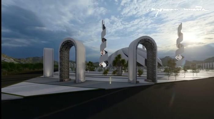 Konsep desain Masjid Agung di Ibu Kota Baru karya Nyoman Nuarta