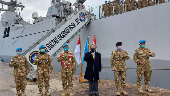 KRI Sultan Iskandar Muda (SIM-367) tiba di Lebanon untuk Misi Perdamaian UNIFIL