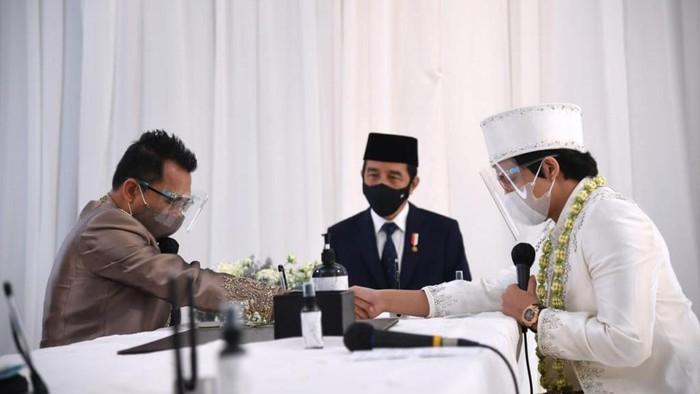 Momen Presiden Jokowi Jadi Saksi Pernikahan Atta dan Aurel