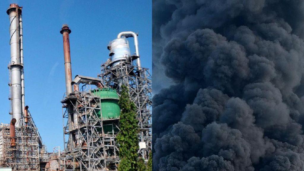 Tengok Lagi Kilang Balongan Sebelum dan Saat Kebakaran