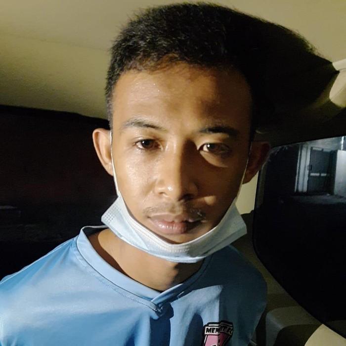 Tersangka pembunuhan wanita berkaki palsu di Kulon Progo, Sabtu (3/4/2021).