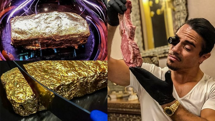 Wow! Makan Steak Emas 24 Karat di Restoran Salt Bae Tagihannya Rp 90 Juta