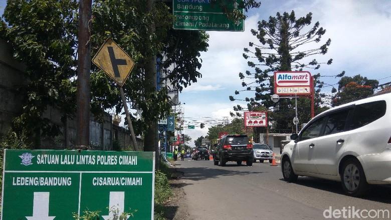 Arus balik wisatawan di kawasan Lembang mulai terjadi