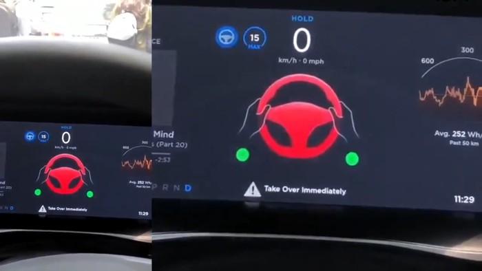 fitur autopilot Tesla nyerah saat macet