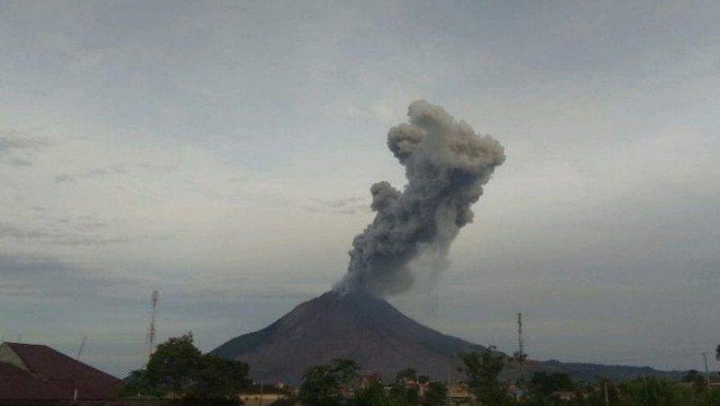 Gunung Sinabung Erupsi, Tinggi Kolom Abu Capai 3.500 Meter