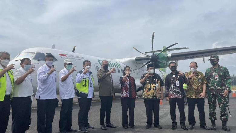 Uji terbang Citilink di Bandara Jenderal Besar Soedirman