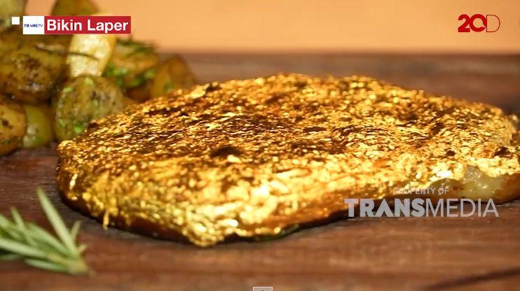 Bikin Laper! Mewahnya Steak dan Baklava Berlapis Emas Seharga Rp 25 Juta