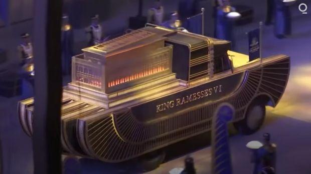 Belasan mumi Firaun dipindahkan pakai truk khusus