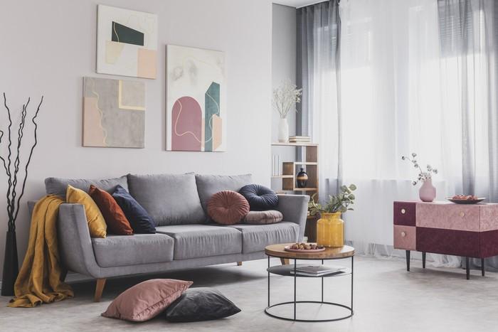 Ide desain ruang tamu minimalis. Foto: Istock