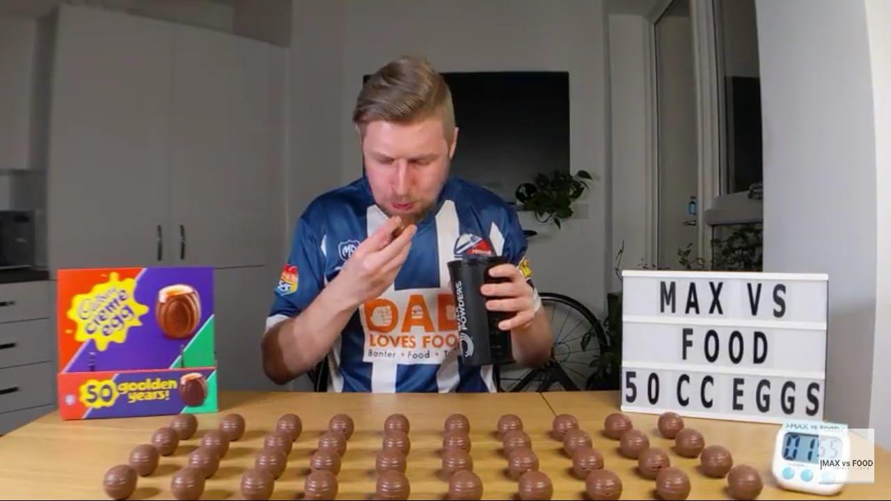 Wouw! Youtuber Ini Mampu Melahap 50 Creme Egg Dalam 24 Menit