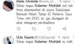 Gubernur Khofifah Trending di Twitter, Pemprov Jatim Bantah Karena Buzzer