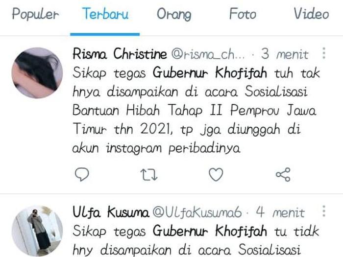 trending topic gubernur khofifah