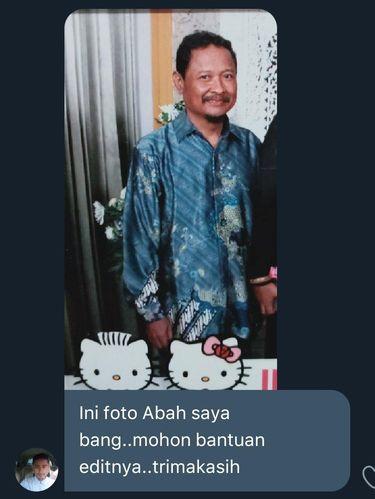 Viral foto sang ayah yang sudah tiada, hadir kembali di atas pelaminan.