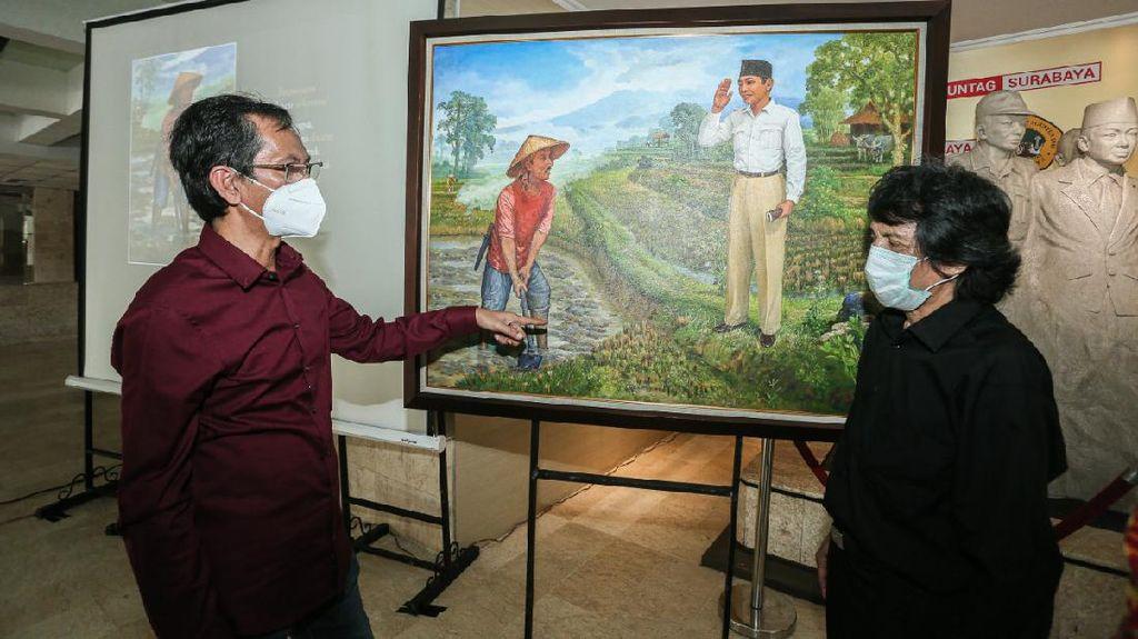 Melihat Lukisan Pertemuan Bung Karno dan Marhaen yang Sarat Pesan Sejarah