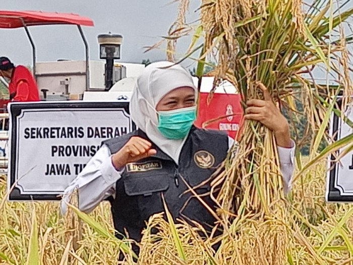 Gubernur Jawa Timur, Khofifah Indar Parawansa saat mengunjungi Ponorogo