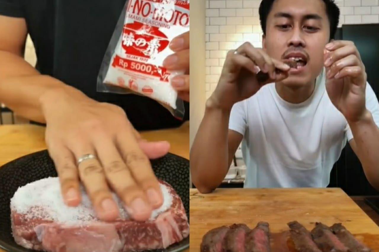 kreasi steak unik ala Dims The Meat Guy