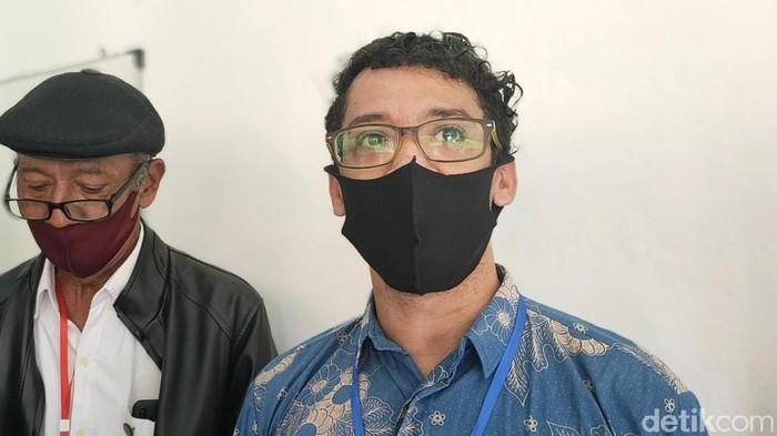 Kuasa hukum LBH Mega Bintang 1997 dan Yayasan Mega Bintang 1997, Muhammad Yusuf, di PN Solo, Selasa (6/4/2021).