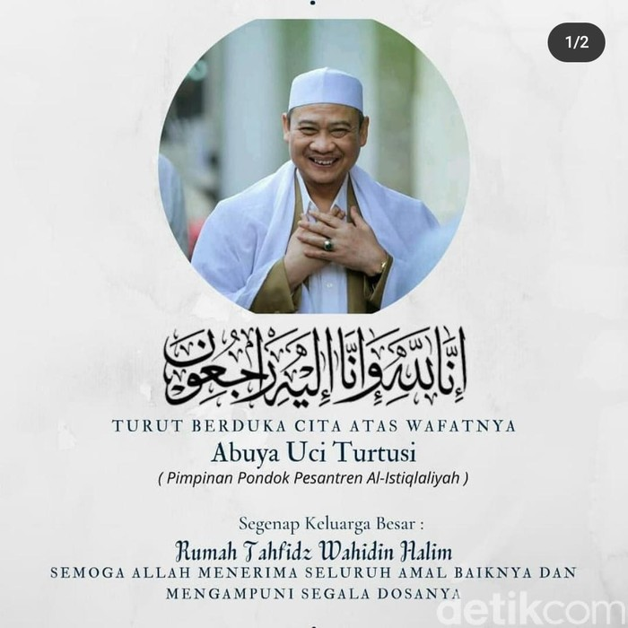 Kyai karismatik dari Tangerang Abuya Uci Turtusi meninggal dunia