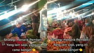 Kocak! Pedagang Sayur di Pasar Ini Tarik Pelanggannya Pakai Nyanyian